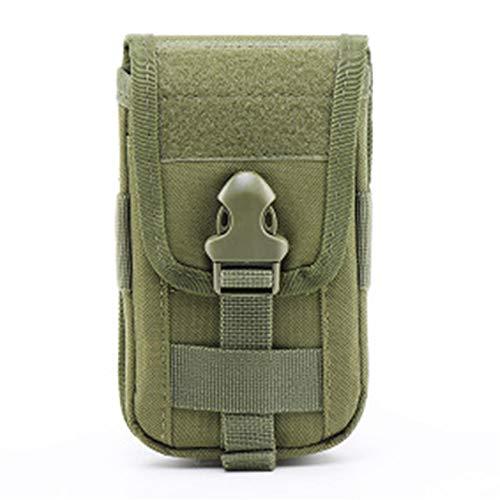 L_shop Funda Universal para teléfono Inteligente Estuche para Transporte Bolsa Cinturón Riñonera Gadget Dinero Bolsillo Portatarjetas Monedero,Ejercito Verde