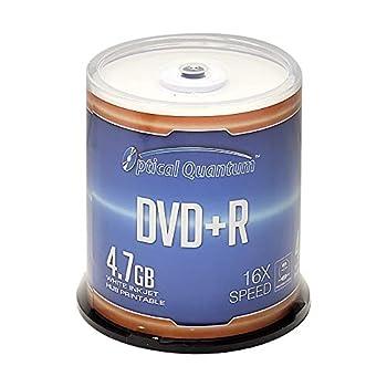 Optical Quantum DVD+R 4.7GB 16X White Inkjet Printable - 100pk Disc Spindle  FFP  OQDPR16WIPH-BX