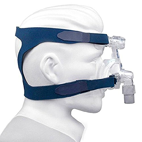 CPAP Headgear Replaces Universal Ultralight Comfort Gel Full Mask Replacement Part Breath Machine Head Band Fit for Respironics Resmed Resmart Without Clips, Blue