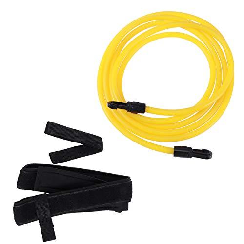 VORCOOL Schwimmtrainer Schwimmgürtel Schwimmgurt mit Hüftgürtel Schleife und Netztasche (Gelb)