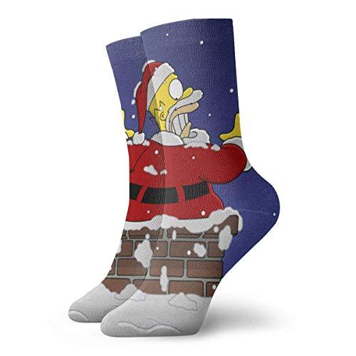 iuitt7rtree Simpsons Socken für Männer Frauen Teenager Mädchen Jungen, Cool Funny Novelty Design Lässig Gemütliche Crew Socken