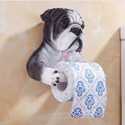 LANKOULI Tissue Box Toilettenpapierhalter Eine Vielzahl von Original 3D Tiermodellierung Toilettenpapier Rollenhalter Badezimmer Einfach zu montieren