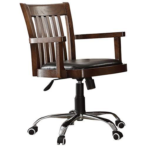 Chaise Chaise en Bois Massif Chaise de Bureau Dossier Chaise Ordinateur Chaise à Manger Chaise Petit Appartement Chaise Loisirs Petite Chaise Rotation 360 °, Pur Bois Massif