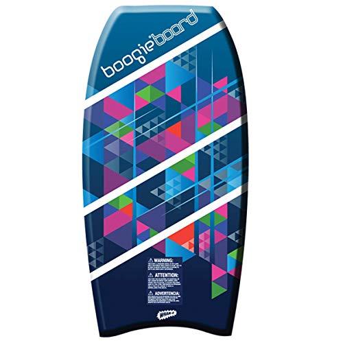 Wham-O Boogie Board 37 Inch Bodyboard | Fiberclad Cover with Phuzion Core | Premium Wrist Leash Included | Slick Body & Crescent Tail | Surfboard for Ocean, Sea, River, Pool (37', Blue)