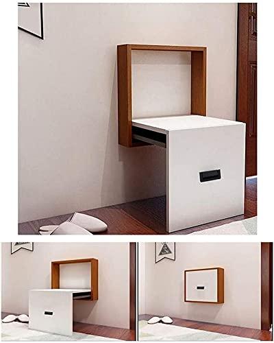 Muebles modernos Taburete plegable para zapatos Taburete para baño montado en la pared Taburete para zapatos oculto de 7 cm de espesor Taburete para zapatos oculto 200 kg Reposapiés de carga, 40x45x8