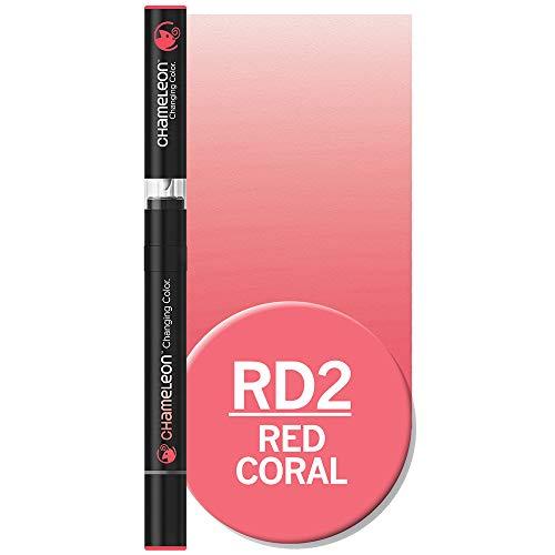 Chameleon Arts RD2 - Rotulador artístico, Color Rojo Coral