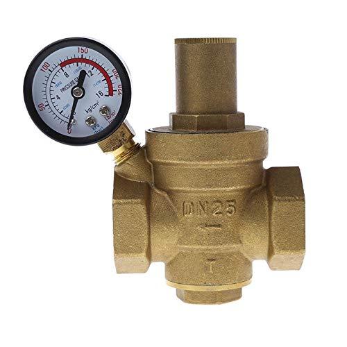 """HGFHGD DN25 1""""Einstellbarer Messing-Wasserdruckregler PN 1.6"""
