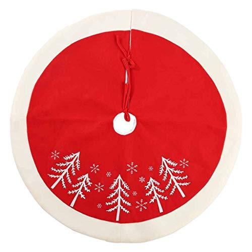WARMWORD Falda de árbol de Navidad, Alfombra Base De La Falda del árbol De Navidad Cubierta La Estera del Piso para Decoración Deárbol De Navidad Suministros para La Fiesta Casa 48 Pulgadas