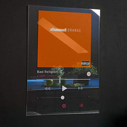 Frank Ocean - Channel Orange Acrylic Plaque Modern Poster Spotify/Apple music Unique Gift Idea Transparen Album Cover Home Decor