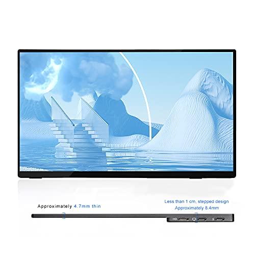 TOPOSH Tragbarer Monitor 15,6 Zoll Full HD 1080P IPS Computerbildschirm, 4K...