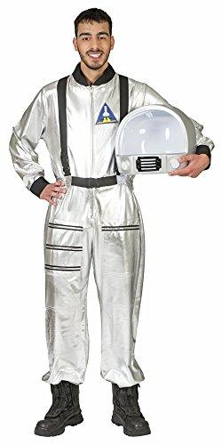 Astronaut Tobias Kostüm für Erwachsene - Silber - Tolles Weltraum Weltall Fahrer Kostüm zu Karneval oder Mottoparty - Gr. L