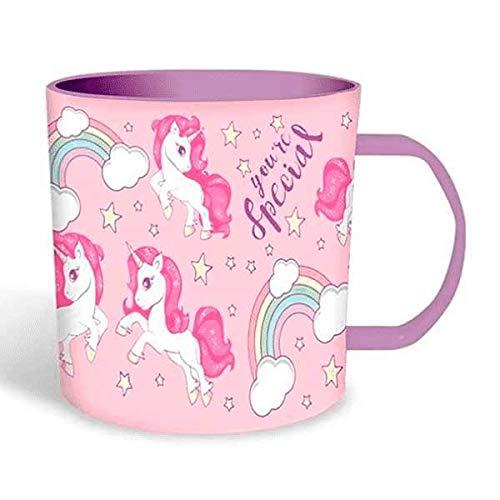 KIDS Taza plastico de Unicornios Tazas de desayuno, No Aplica