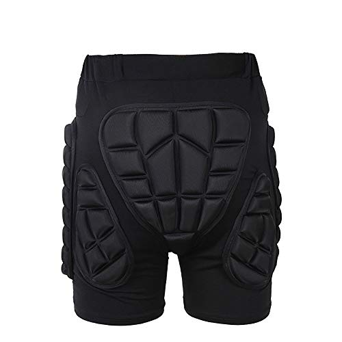 Ghost thorn Riding Armor Pants Skating Protective Armour Skiing Snowboards Mountain Bike Cycling Cycle Shorts (Color : Black)