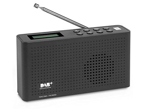 RED OPTICUM sound 3 radio FM/DAB/DAB + nero - radio VHF portatile con altoparlante e collegamento per cuffie Display LCD funzione timer 20 stazioni preimpostate, 163x44x88 mm