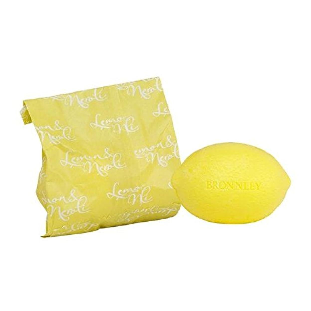 パニック驚き腹部レモン&ネロリ石鹸100グラム x4 - Bronnley Lemon & Neroli Soap 100g (Pack of 4) [並行輸入品]