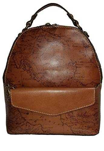 Patraicia Nash Heritage Montioni Convertible Backpack – Riot Rust Signature Map Print