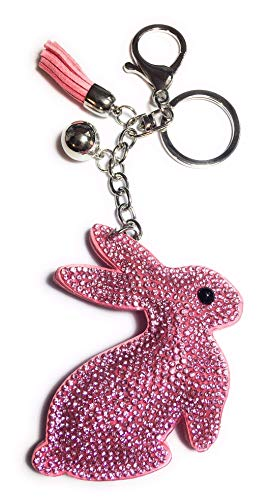 FizzyButton Gifts - rosa Hasen Tasche Charme mit Strass und Quaste