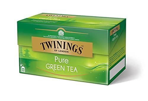 Twinings Pure Green Tea - Grüner Tee im Teebeutel - hochwertiger Grüntee pur in seiner reinsten Form für ursprünglichen Grünteegenuss, 25 Teebeutel (50 g)