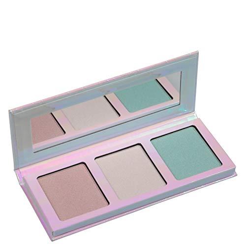 Essence Go for the glow Highlighter Palette Nr. 01 the cools Inhalt: 12g Highlighter für das Gesicht in drei pastelltönen für einen eisigen holographischen Effekt. Highlighter Palette