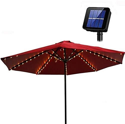 Cadena de luces solares para exteriores, para sombrilla, iluminación solar LED, decoración para jardín, fiesta, camping