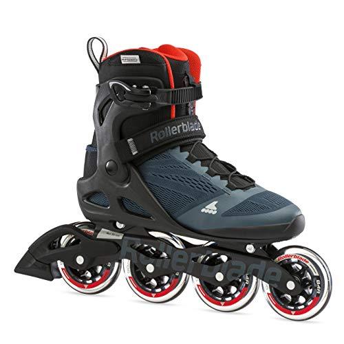 Rollerblade Unisex– Erwachsene MACROBLADE 90 Inline-Skate, Orion BLAU/SCHARF ORANGE, 270