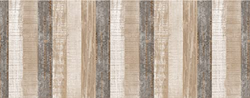 HomeLife Tappeto Cucina Antiscivolo Lavabile in Vinile 52X160 Made in Italy   Passatoia Antimacchia in PVC Interni ed Esterni Stampa Pannelli Legno   Tappeti Runner Lungo in Gomma [160 cm]