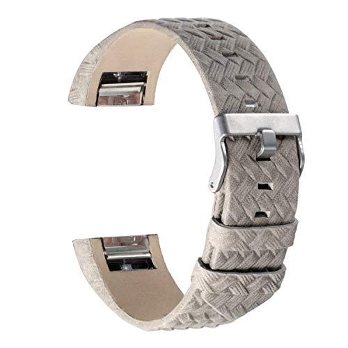 Goosehill Armband für Charge 2, echtes Lederarmband Erstatzband für Charge 2 Unisex Fitness Armband