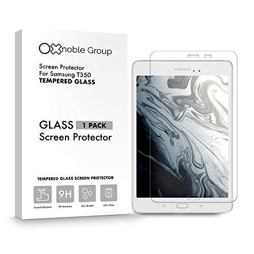 Oxnoble - Protector de pantalla de cristal para Samsung T350 Galaxy Tab A 8.0 (2015)