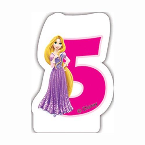 Disney Princesse et Animaux 5 Bougie d'anniversaire