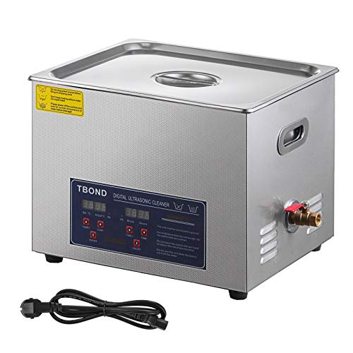 SHZOND Ultrasonic Cleaner 3.96Gal /15L Stainless Steel Heated Ultrasonic Cleaner 360W Ultrasonic Power Ultrasonic Jewelry Cleaner with Digital Temperature and Timer(3.96Gal / 15L)