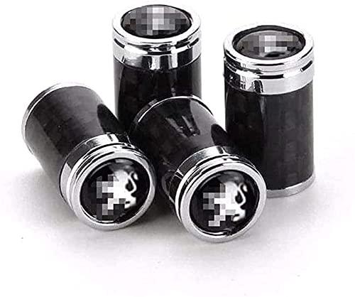 Coche Neumático Tapas Válvulas para Peugeot 2008 3008 4008 5008 208 408 407 507 506 306 307 308, Antirrobo Antipolvo Resistente Agua Decoración Accesorio