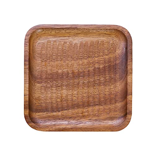 RUMUI Plato de Madera Platos de Frutas Platillo Bandeja de té Postre Cena Pan Platos de Madera Concha Cuenco de batido Vajilla de Cocina