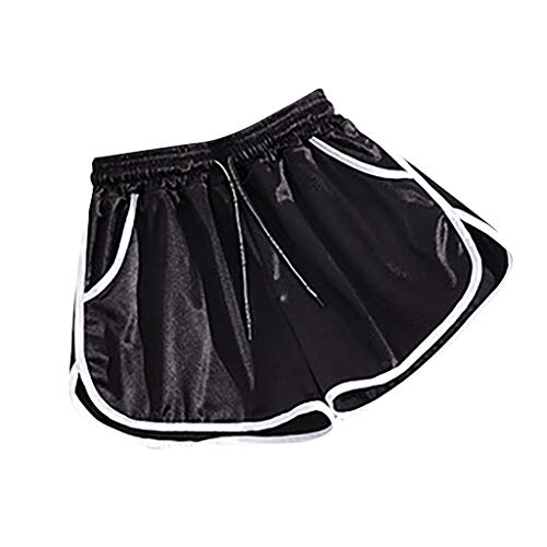 Amazing Deal Women Scrunch Workout Shorts - Running Satin Yoga Shorts Plus Size Shorts - Elastic Wai...