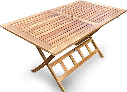 GRASEKAMP Qualität seit 1972 Gartentisch Belmonte 140x80cm Akazie Natur Klapptisch Balkontisch