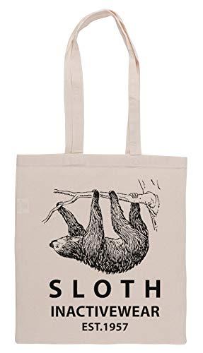 Luxogo Sloth Inactivewear Einkaufstasche Groceries Beige Shopping Bag