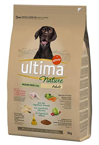 Ultima Nature Croquettes Chiens Adult Medium Maxi 10 Kg Poulet Riz Légumes Format 3kg Lot De 2
