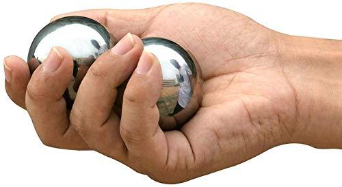 Palm de bola de masaje bolas Baoding bolas Bolas de baooding, bolas de estrés de ejercicio de salud chino, bolas de baoding de acero inoxidable con bolsas de asas, bolas de salud chinas para terapia d