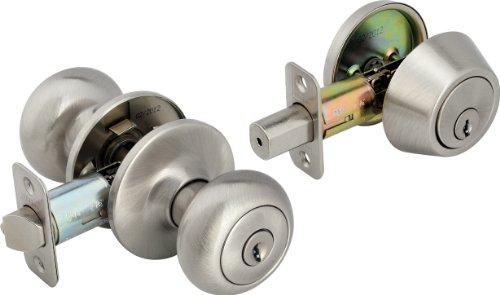 Legend 809136 Legend Decorative Knob Combination Entry and Deadbolt Lockset, Satin Nickel