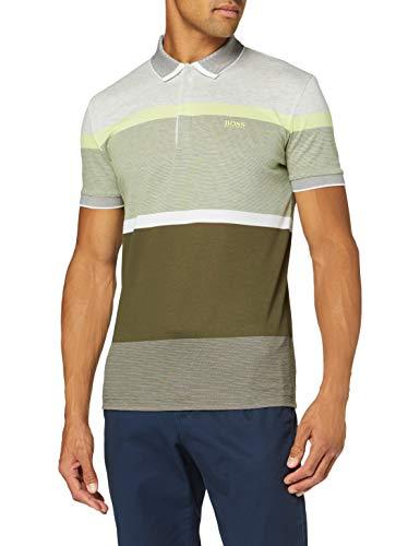 BOSS Herren Paddy 4 Poloshirt, Grün (Dark Green 303), Large (Herstellergröße: L)