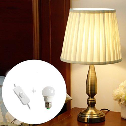 OUZHOUD Lámparas de cabecera Lámpara de mesa LED regulable Lámparas de escritorio de...