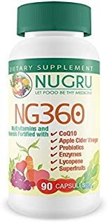 NG360 Multivitamin With CoQ10, Apple Cider Vinegar, and Probiotics – Now Gluten Free with over 40 Super Fruits and Vegetable Blend for Energy, Metabolism & Immune System Support