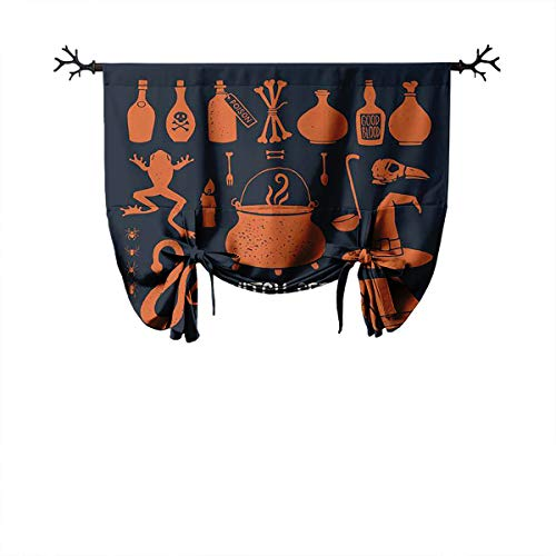 LanQiao Halloween Witch Objects Witchcraft and Magic Set of Decorative Elements to Decorate The Posters and Printed Roman Thermal Curtain Protect Private Life