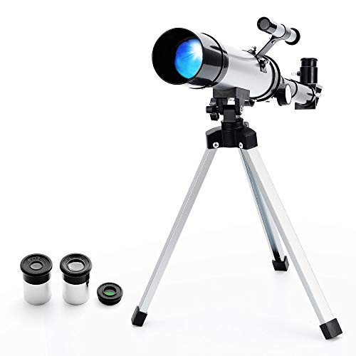 Telescopio Refractor Astronómico Zoom HD para Observación Al Aire Libre Monocular Espacio Telescopio con Trípode para niños, Principiante -Ranipobo