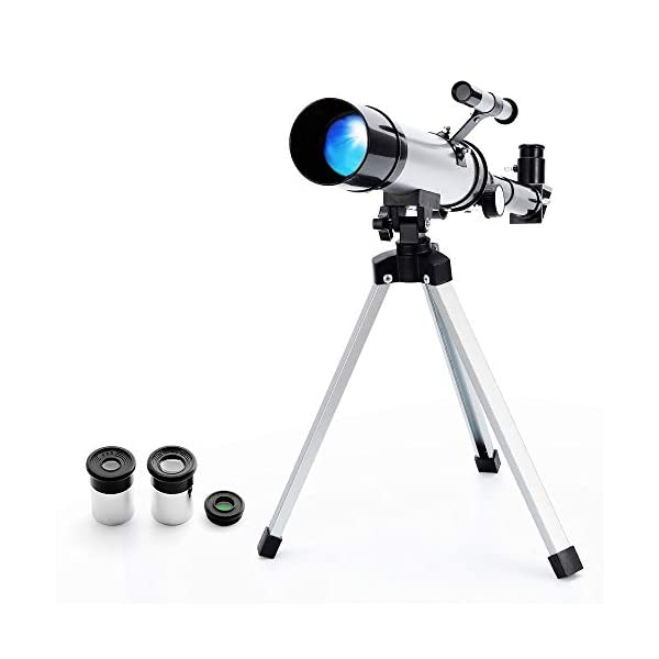 Astronomical Reflector Telescope Zoom HD Outdoor Monocular Space with Tripod for Kids,Beginner - Ranipobo
