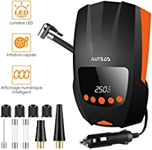 AUTSCA Portable Tire Inflator Air Compressor for Car, DC 12V 150PSI Digital Tire Inflator with Emergency LED Light, Auto Shut Off and the barometric pressure measurement function air pump for car, ect