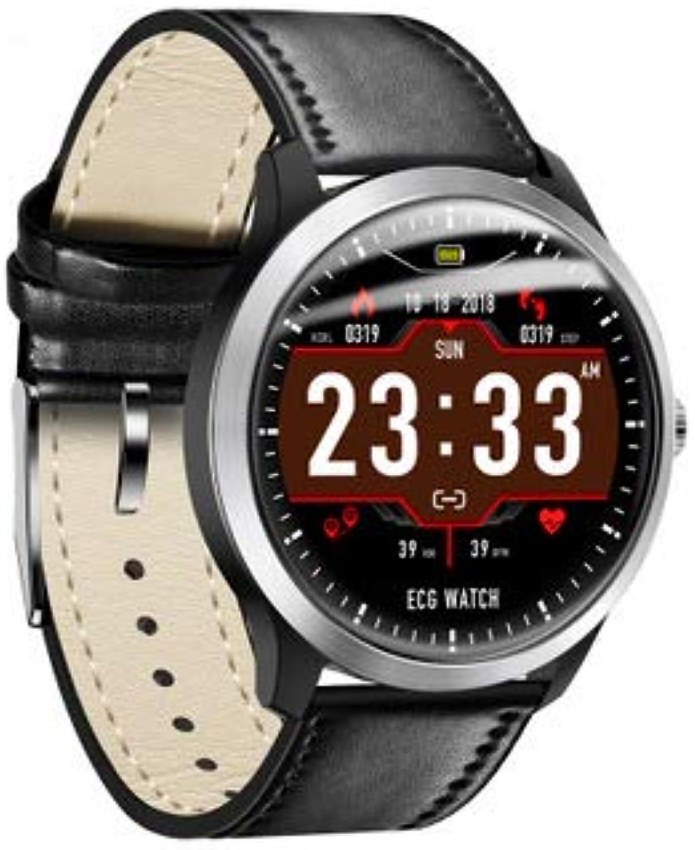GAVINSC Smart Watch IP67 wasserdichte EKG-Sportuhr HRV Report Activity Tracker mit Kalorien-Schrittzhler Herzfrequenz- und Schlafmonitor für Mnner Frauen,schwarz