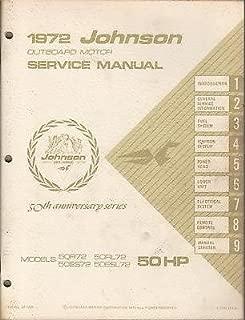 1972 JOHNSON OUTBOARD 50 HP, item no. JM- 7208 SERVICE MANUAL (973)