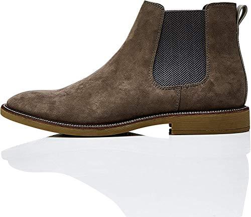 find. Marsh Herren Chelsea Boots Stiefel, Grau (Grey Grey), 44 EU