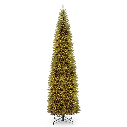 National Tree 21 Foot Kingswood Fir Pencil Tree, 12 ft, Green, 12 ft