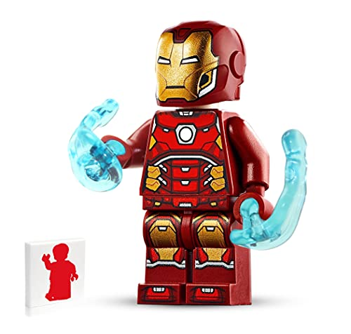 Marvel Lego Super Heroes Minifigure - Iron Man (with Silver Hexagon and Power Blasts) 76166